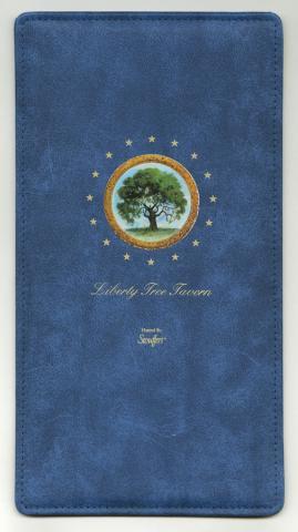 Liberty Tree Tavern Menu - ID: augdismenu20016 Disneyana