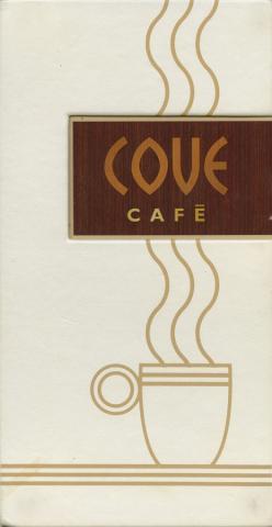 Cove Cafe Menu - ID: augdismenu20018 Disneyana