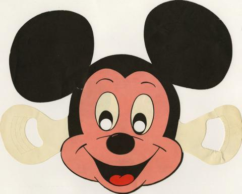 Disneyland Hotel Children's Menu Mickey Mouse Mask - ID: augdismenu20020 Disneyana