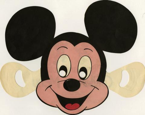 Disneyland Hotel Children's Menu Mickey Mouse Mask - ID: augdismenu20021 Marvel/Sunbow