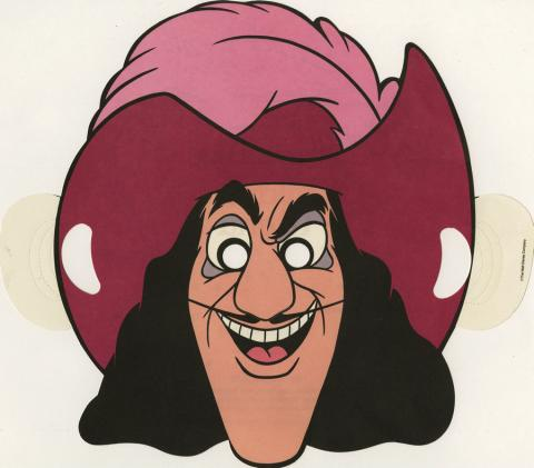 Disneyland Hotel Children's Menu Captain Hook Mask - ID: augdismenu20022 Disneyana