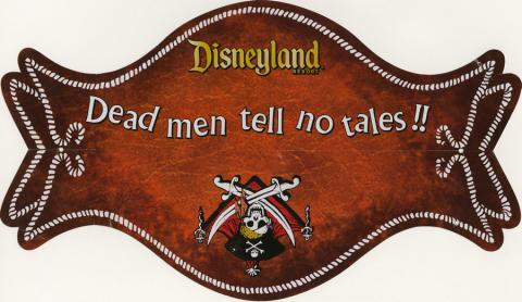 Blue Bayou Dead Men Tell No Tales Children's Menu - ID: augdismenu20025 Disneyana