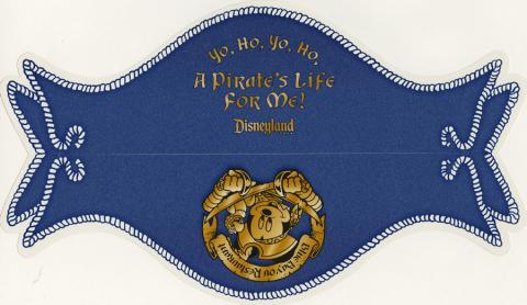Blue Bayou A Pirate's Life for Me Menu - ID: augdismenu20026 Disneyana