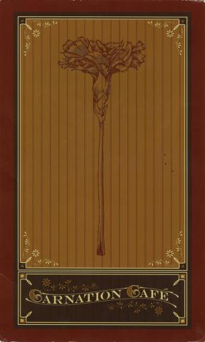 Carnation Cafe Menu - ID: augdismenu20030 Disneyana