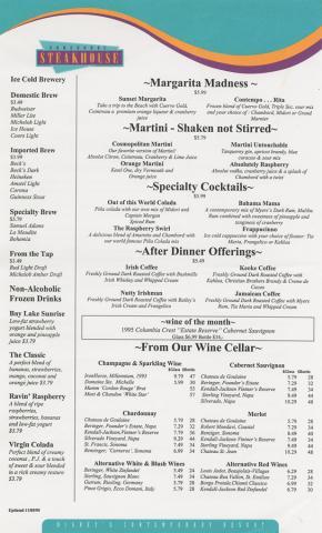 Concourse Steakhouse Menu - ID: augdismenu20044 Disneyana