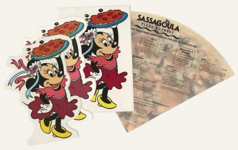 Set of 5 Pizza Menus - ID: augdismenu20049 Disneyana
