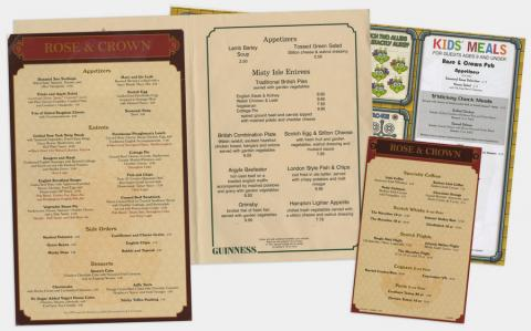 Rose and Crown Menu Set - ID: augdismenu20260 Disneyana
