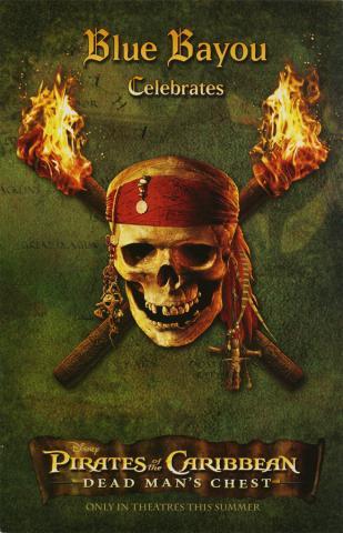 Blue Bayou Pirate's of the Caribbean Dead Man's Chest Menu - ID: augdismenu20358 Disneyana