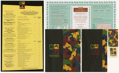 Le Cellier Steakhouse Menu Set - ID: augdismenu20361 Disneyana
