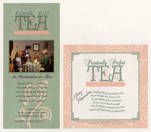 Practically Perfect Tea Menu and Flyer - ID: augdismenu20374 Disneyana