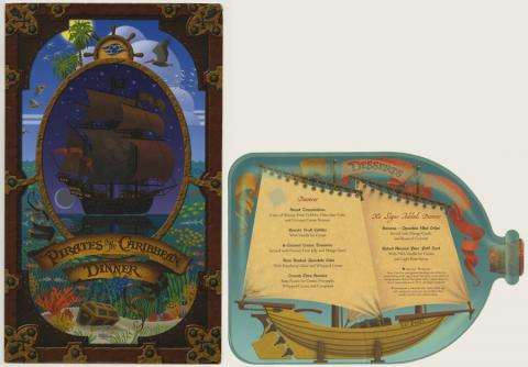 Pirates in the Carrbean Dinner and Dessert Menu - ID: augdismenu20386 Disneyana