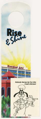 Disneyland Hotel Door Hanger Menu and Breakfast Pamphlet - ID: augdismenu20388 Disneyana