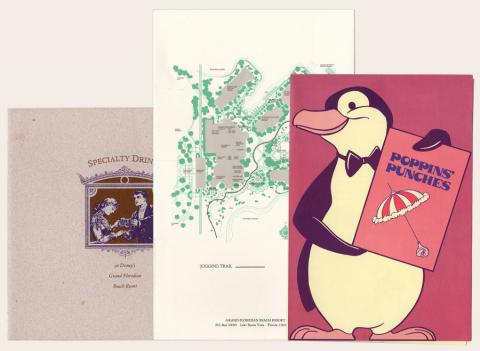 Collection of Grand Floridan Beach Resort Menus - ID: augdismenu20391 Disneyana