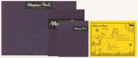 Collection of Monsieur Paul Restaurant Menus - ID: augdismenu20423 Disneyana
