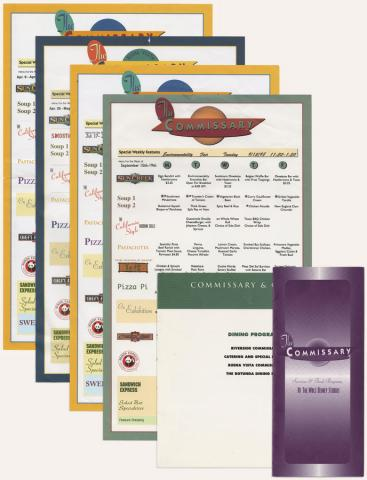 Collection of Disney Studios Commissary Menus - ID: augdismenu20424 Disneyana