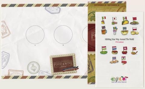 1996 EPCOT Food and Wine Festival Brochures - ID: augdismenu20429 Disneyana