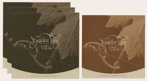 Collection of Golden Vine Winery Menus - ID: augdismenu20430 Disneyana