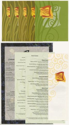 Collection of Citricos Menus - ID: augdismenu20434 Disneyana