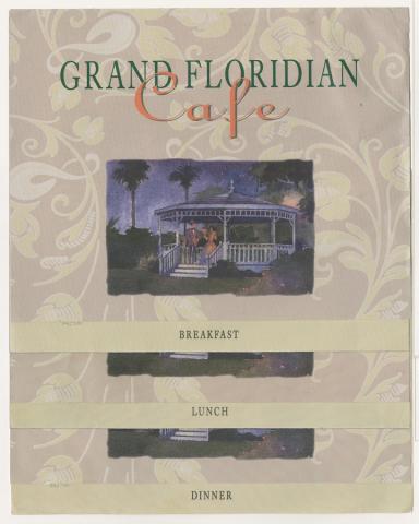 Set of Grand Floridian Cafe Menus - ID: augdismenu20436 Disneyana