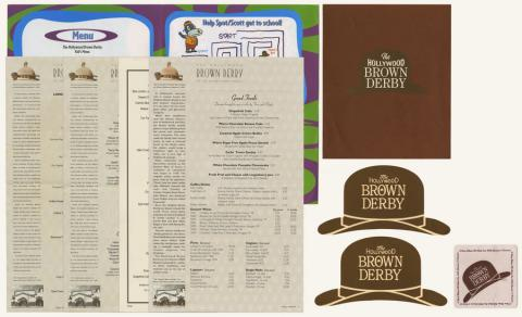 Collection of Brown Derby Menus - ID: augdismenu20439 Disneyana