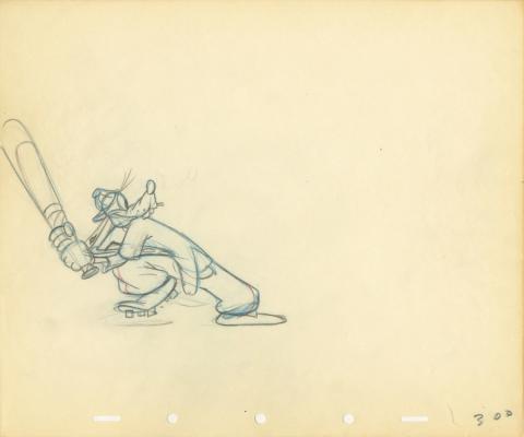 How To Play Baseball Production Drawing - ID: auggoofy20746 Walt Disney