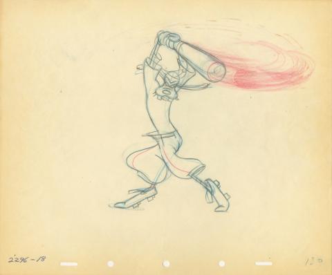 How To Play Baseball Production Drawing - ID: auggoofy20749 Walt Disney