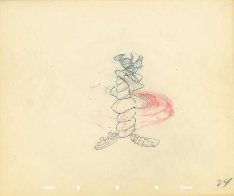 How To Play Baseball Production Drawing - ID: auggoofy20752 Walt Disney