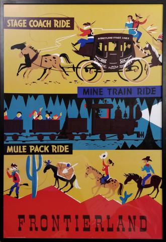 Disney Gallery Stage Coach Ride Attraction Poster - ID: augposter20016 Disneyana