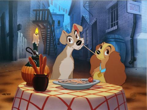 Lady and the Tramp Limited Edition Hand-Painted Cel - ID: augtramp20453 Walt Disney