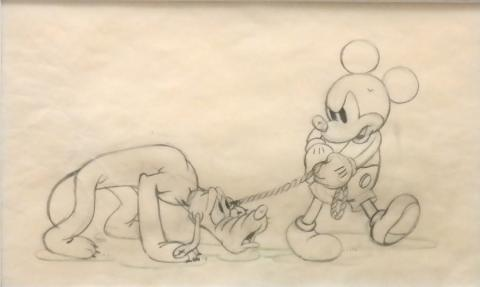 Society Dog Show Production Drawing - ID: decmickey19037 Walt Disney