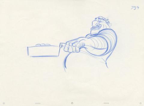 Treasure Planet Production Drawing - ID: dectreasure19118 Walt Disney