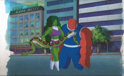 Incredible Hulk Production Cel & Background - ID: hulk32105 Marvel