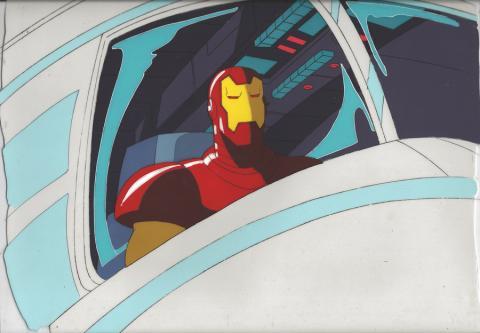 Iron Man Production Cel & Background - ID: iron32302 Marvel