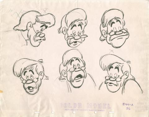Pinocchio Photostat Model Sheet - ID: janmodel20021 Walt Disney