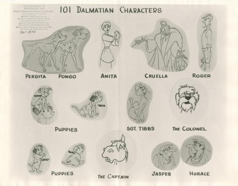101 Dalmatians Photostat Model Sheet - ID: janmodel20067 Walt Disney