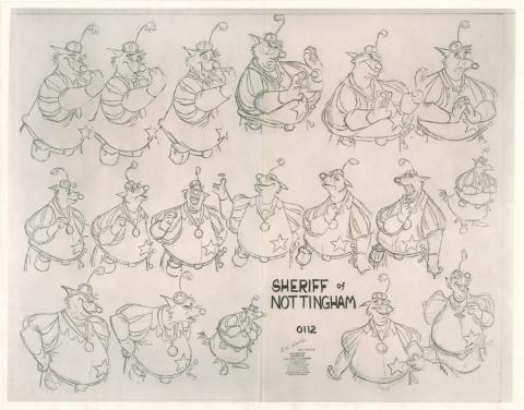 Robin Hood Photostat Model Sheet - ID: janmodel20311 Walt Disney