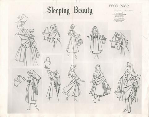 Sleeping Beauty Photostat Model Sheet - ID: janmodel20314 Walt Disney