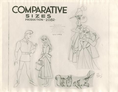 Sleeping Beauty Photostat Model Sheet - ID: janmodel20318 Walt Disney