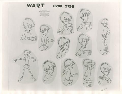 The Sword in the Stone Photostat Model Sheet - ID: janmodel20354 Walt Disney