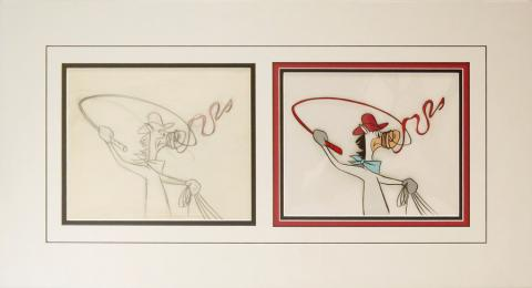 Quick Draw McGraw Production Cel and Drawing - ID: janquickdraw20082 Hanna Barbera