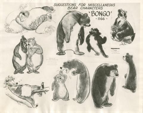 Bongo the Bear Photostat Model Sheet - ID: julybongo20126 Walt Disney