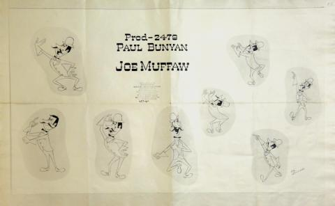 Paul Bunyan Photostat Model Sheet - ID: julybunyan20306 Walt Disney