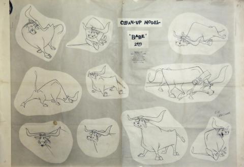 Paul Bunyan Photostat Model Sheet - ID: julybunyan20311 Walt Disney