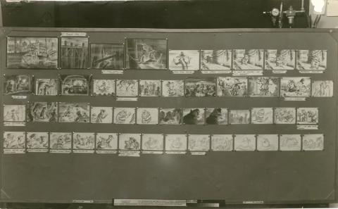 The Great Mouse Detective Photostat Storyboard Sheet - ID: julydetective20110 Walt Disney