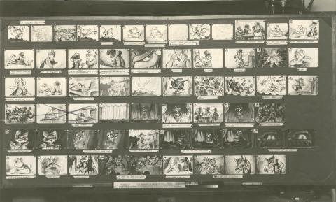 The Great Mouse Detective Photostat Storyboard Sheet - ID: julydetective20112 Walt Disney