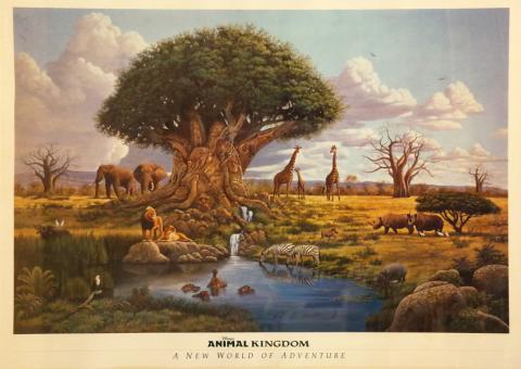 Animal Kingdom Print - ID: julydisneyana20321 Walt Disney