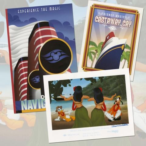 Collection of (4) Disney Cruise Line Prints - ID: julydisneyana20363 Disneyana