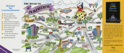 Road to Imagineering Promotional Flyer - ID: julydisneyana20369 Disneyana