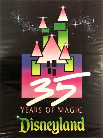 35 Years of Magic Disneyland Poster - ID: julydisneyana20382 Disneyana