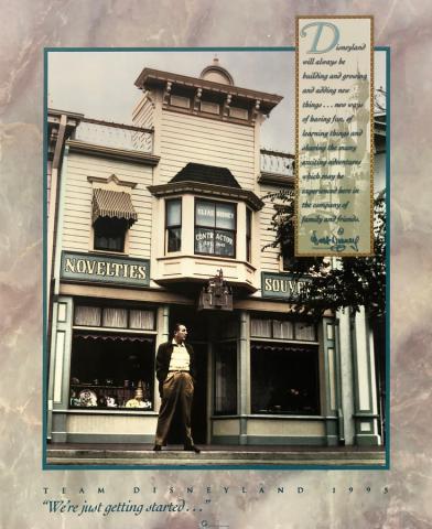 Team Disneyland 1995 Poster - ID: julydisneyana20384 Disneyana